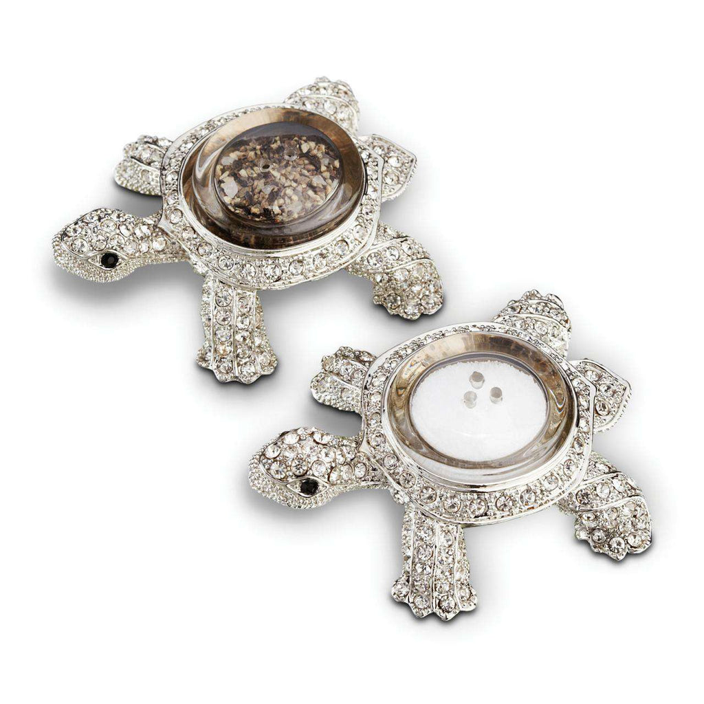 Turtle Spice Jewels - Platinum & White Crystals - TERTIUS COLLECTION