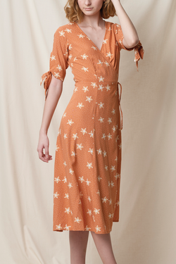 Tia Wrap Dress Ochre