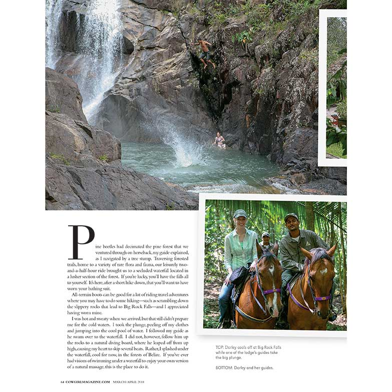 Cowgirl Magazine March-April 2018 | Coppola's Blancaneaux Lodge Belize