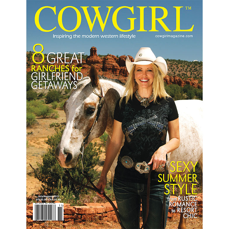 Cowgirl Magazine July-August 2011 Cover | 8 Great Ranch Getaways