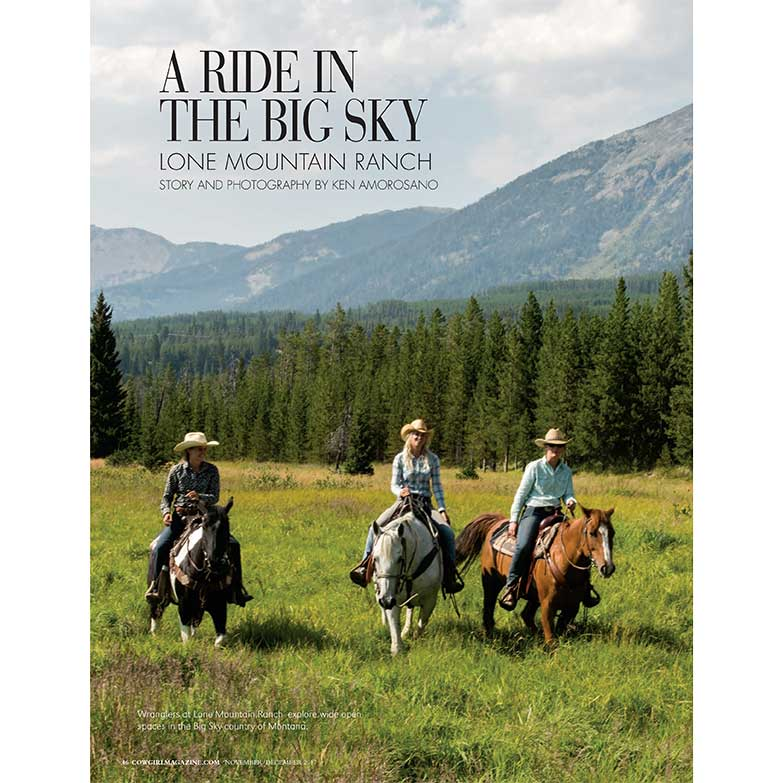 Cowgirl Magazine November-December 2017 | A Ride In The Big Sky