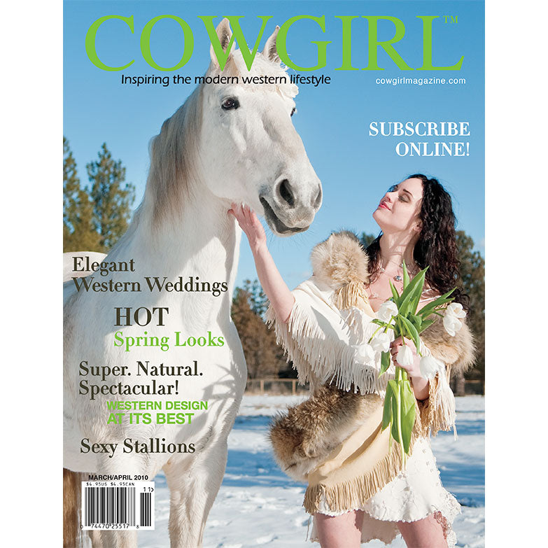 Cowgirl Magazine March-April 2010 Cover | Elegant Western Weddings