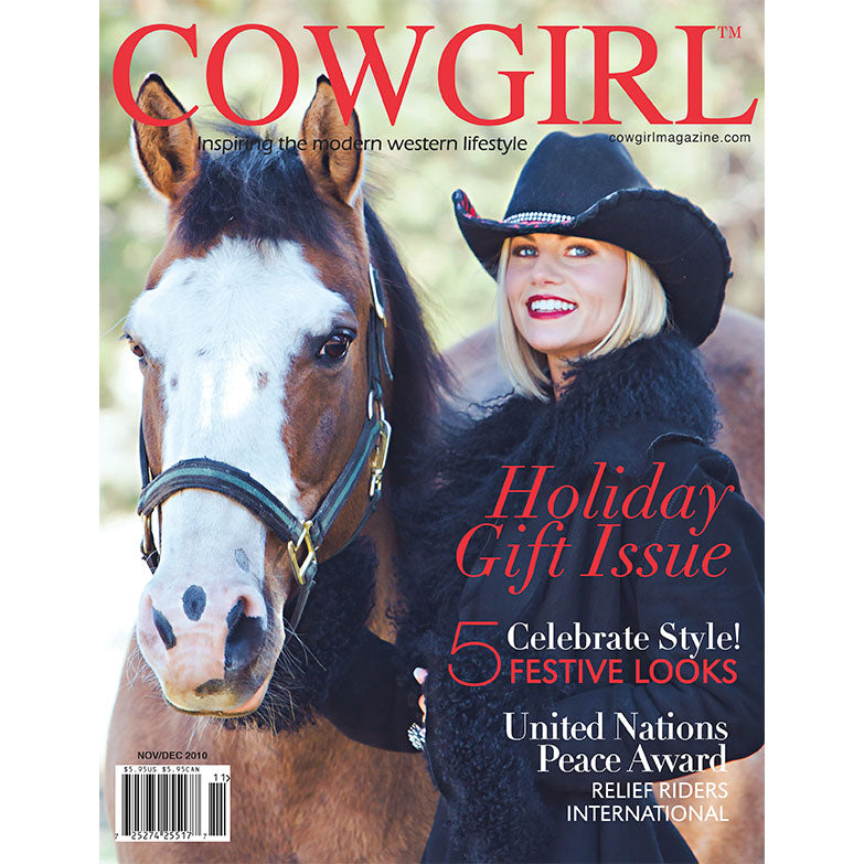 Cowgirl Magazine November-December 2010 Cover | Relief Riders Award