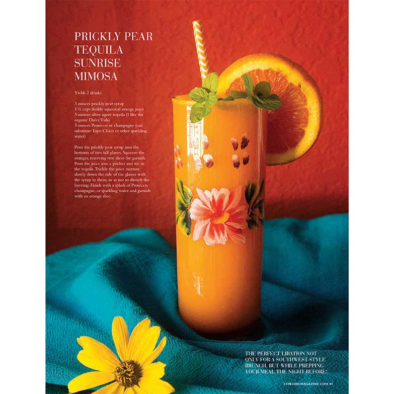 Cowgirl Magazine January-February 2017 | Prickly Pear Tequila Mimosa