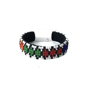 African Beaded Thin Bangle