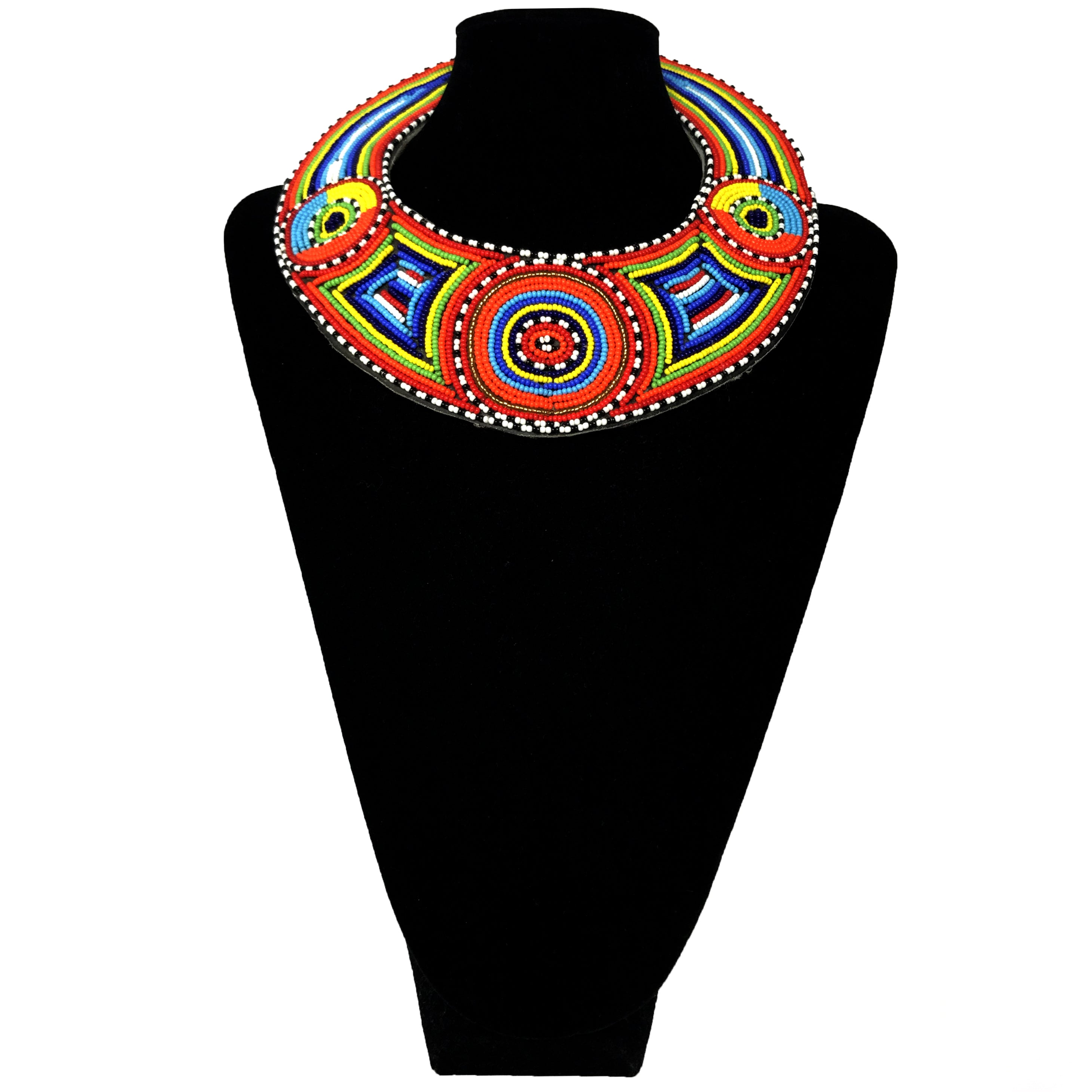 African Beaded Necklace - Rainbow