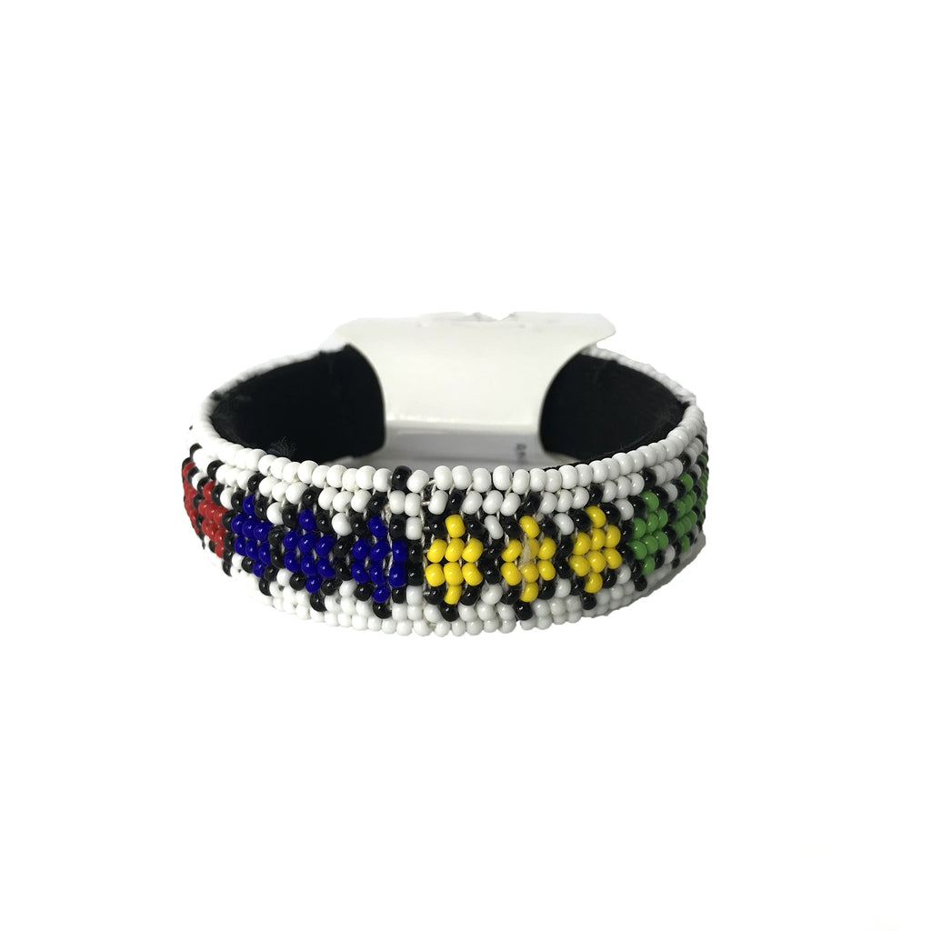 African Beaded Thick Bangle