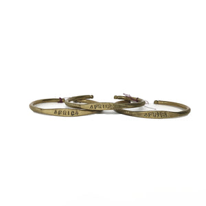 Brass Africa Word Bangle