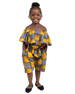 Kid's Romper - Yellow