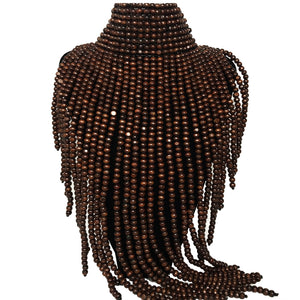 Fringe Collar Beaded Necklace