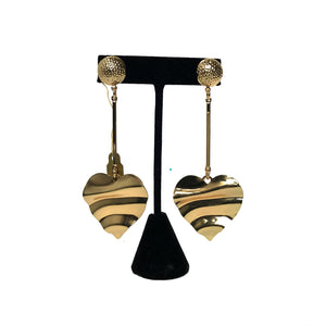 Gold Heart Fashion Earrings etal store
