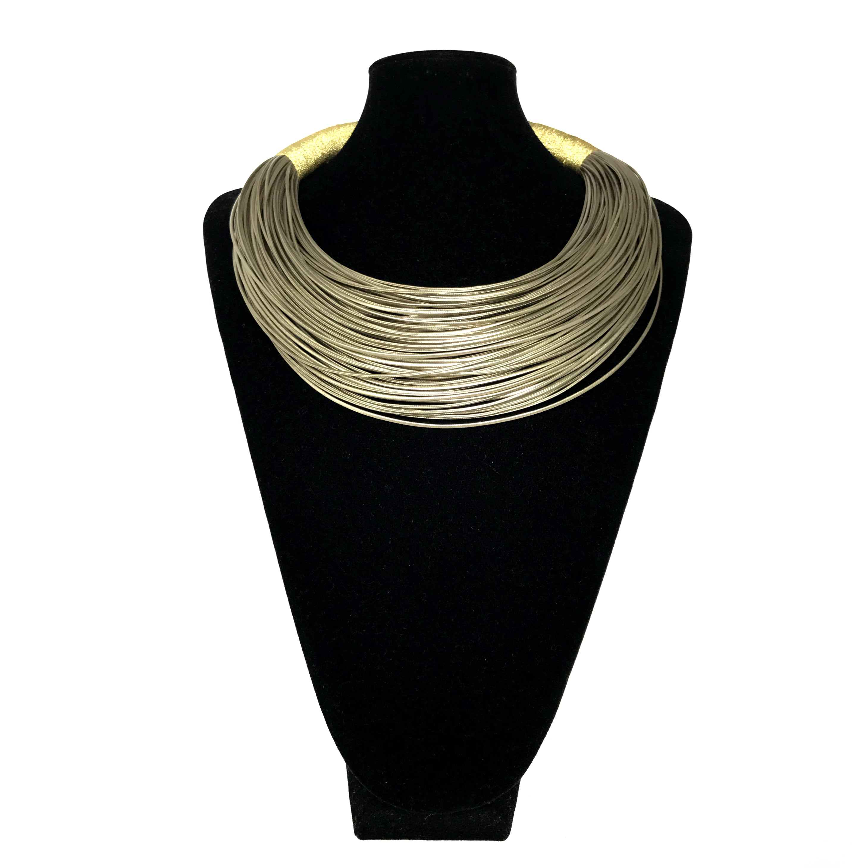 J Gold Wrap Thread Necklace