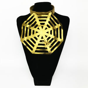 Leather Web Necklace