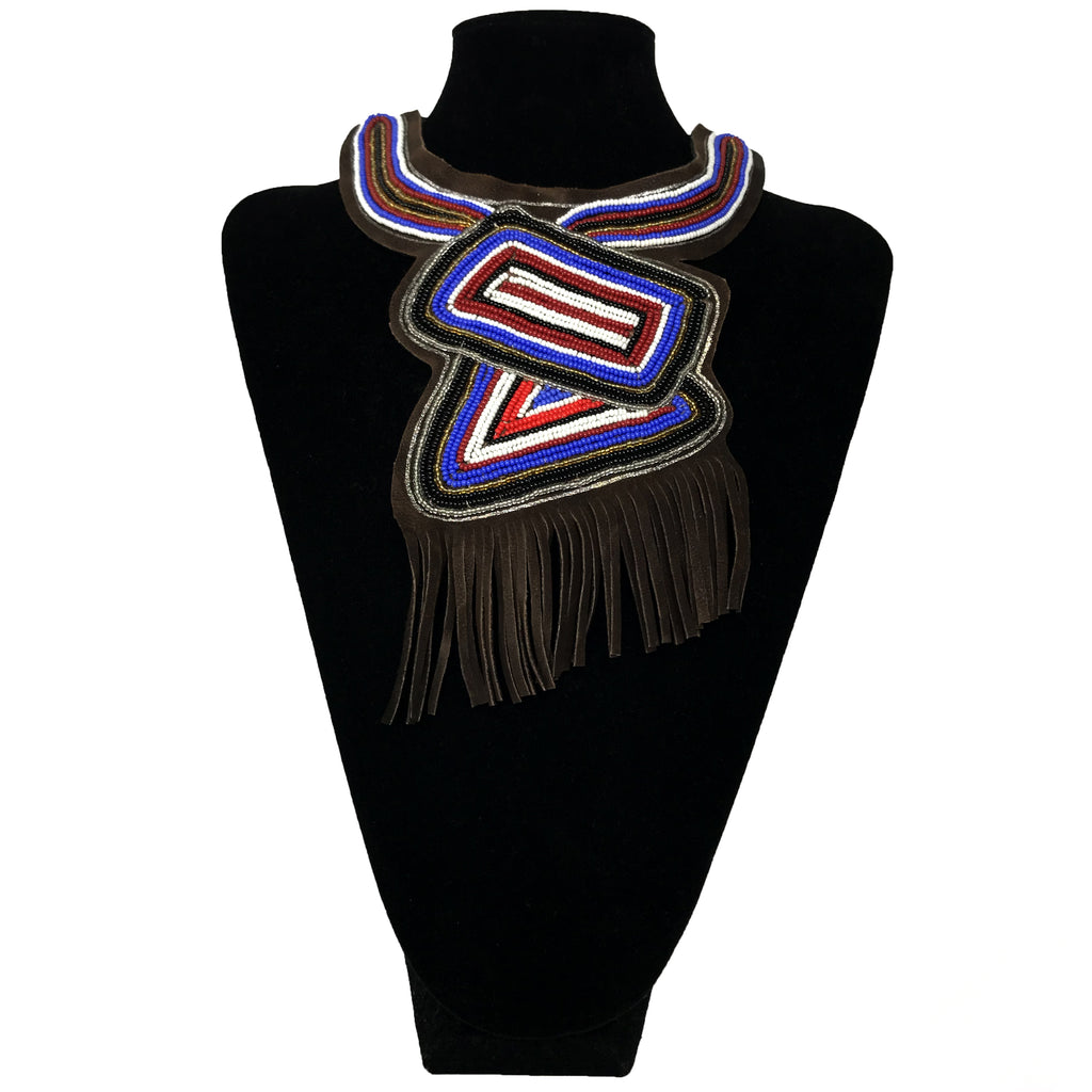 Massai Beaded Fringe Necklace