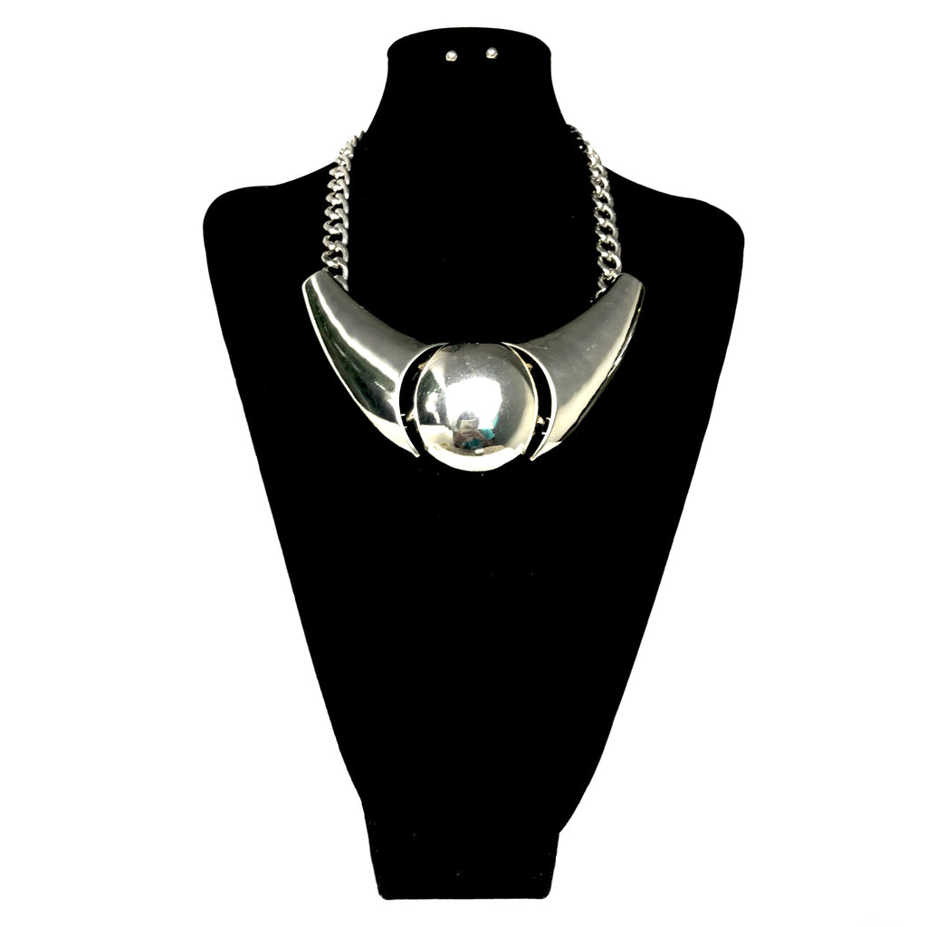 Metal Chunky Necklace Set