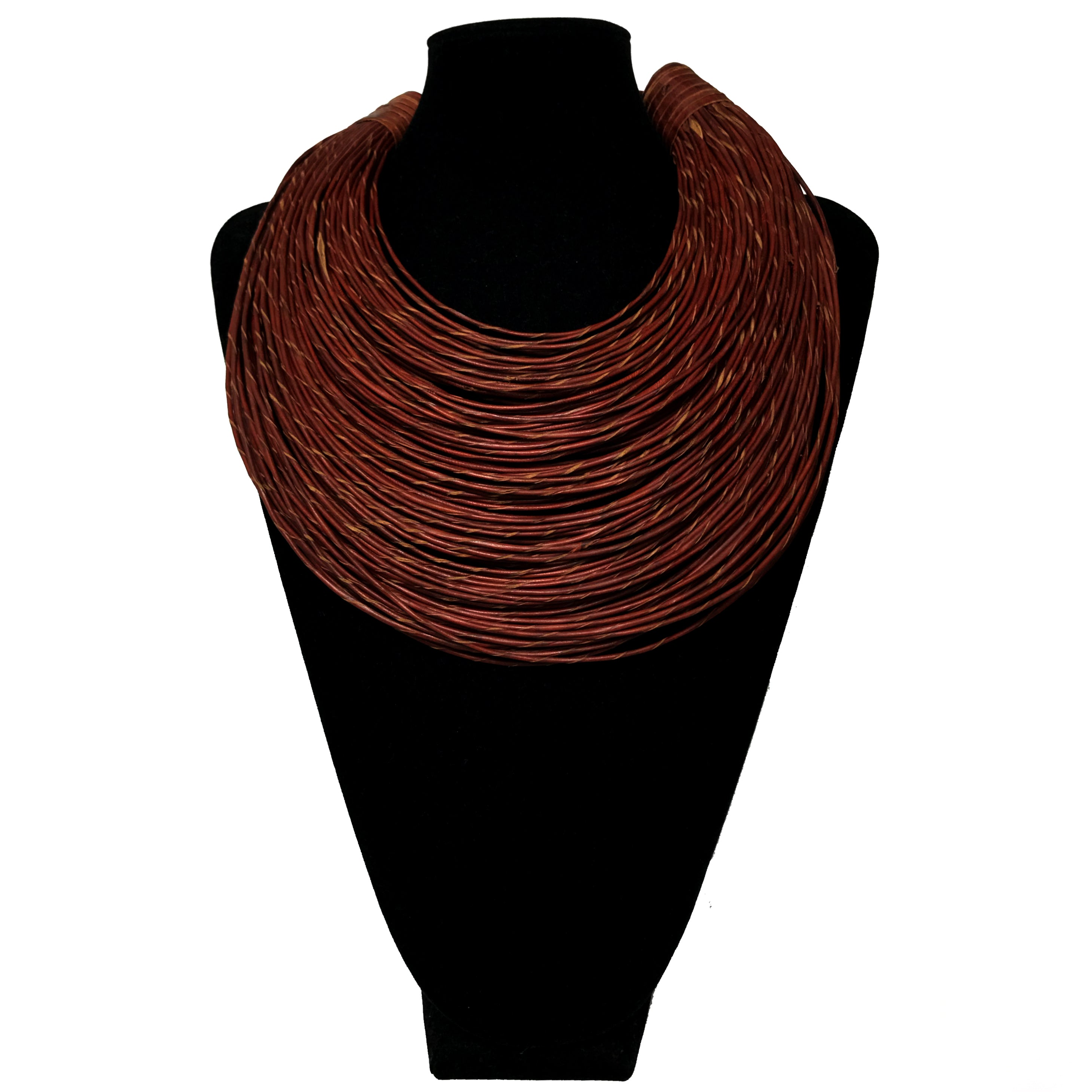 Multi-Strand Leather Necklace etal store