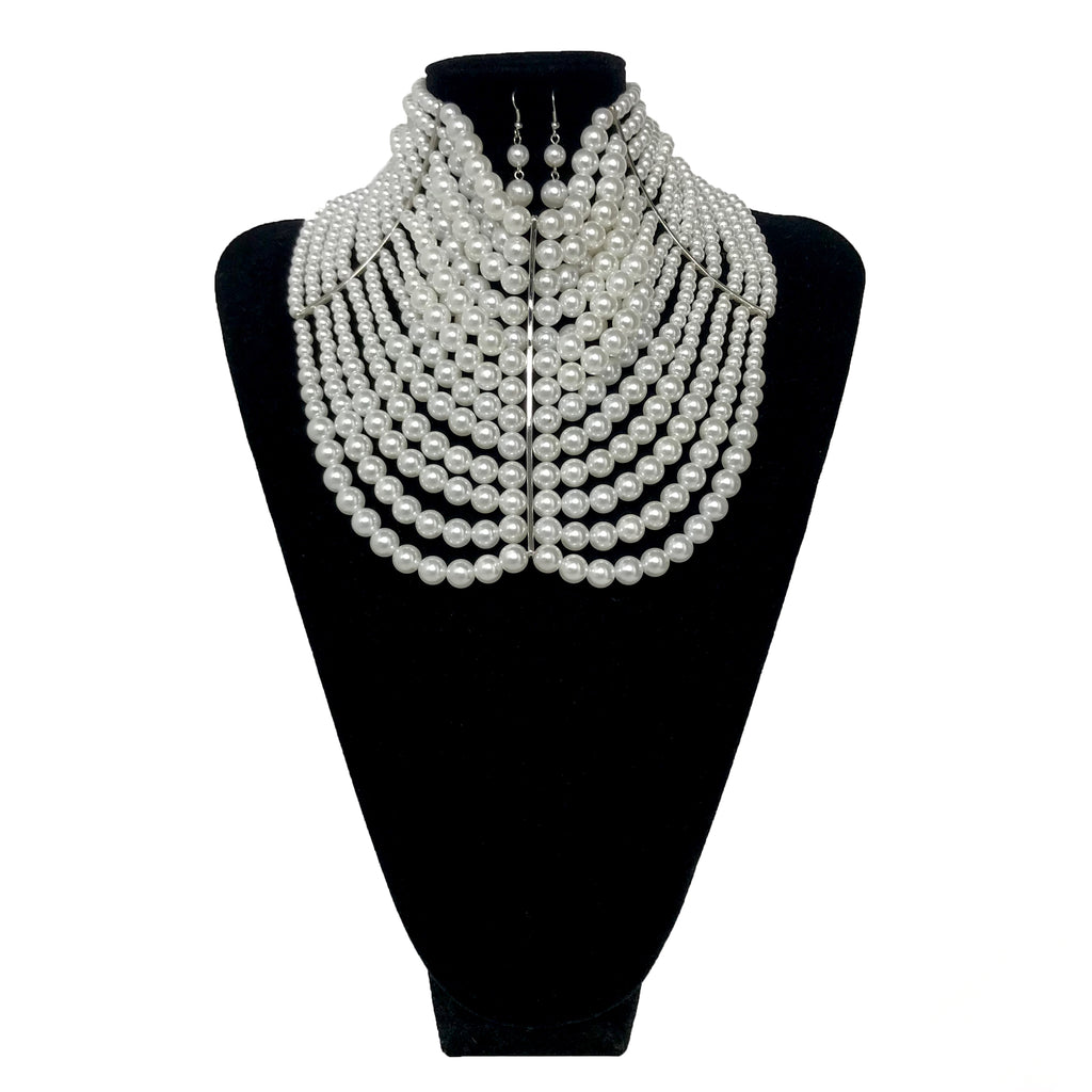 Pearl Fashion Necklace Set