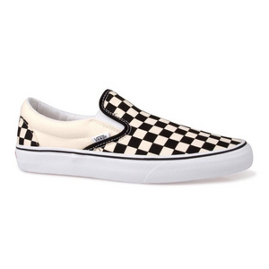 CLASSIC SLIP ON BLACK AND WHITE CHECKER
