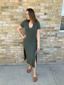 Easy Rib Tee Dress - Metanoia Boutique