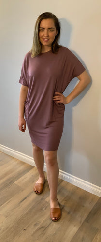 Cocoon Crew Neck Dress - Metanoia Boutique