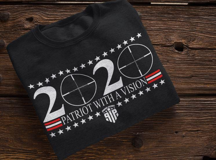 2020 Patriot With A Vision - America Shirt - Women's Patriotic Shirts