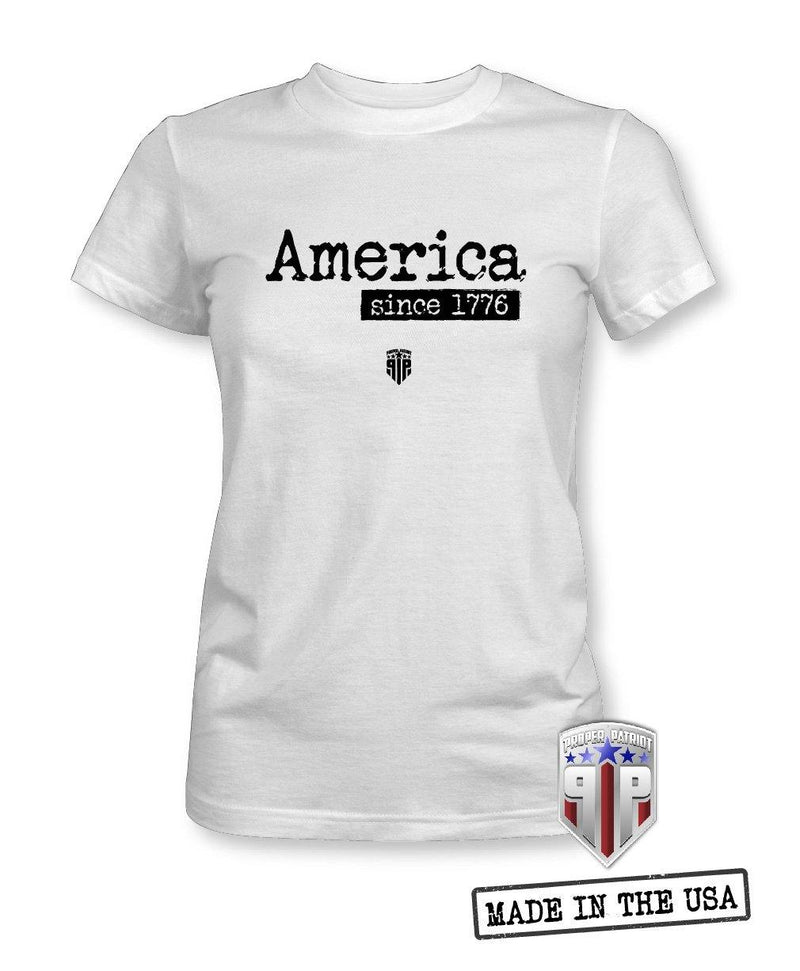 America Est. 1776 - USA Apparel Shirts - Women's Patriotic Shirts