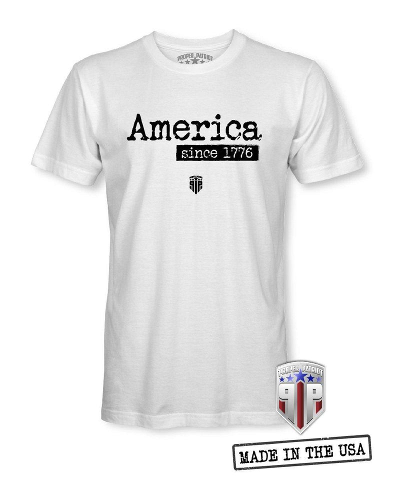 America Est. 1776 - USA Shirts - Patriotic Shirts for Men