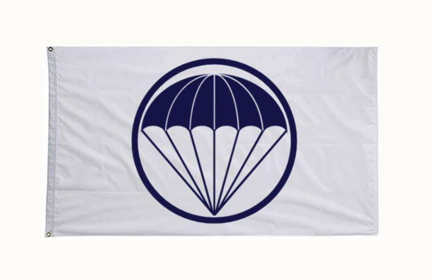 White LGOP Flag - Little Groups of Paratroopers - Custom Flag