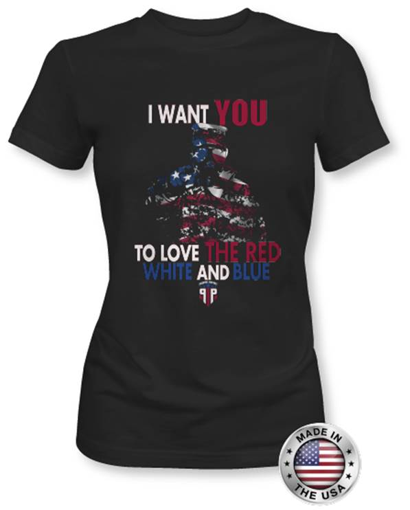 Patriotic Love the Red, White, and Blue - Women's Shirt - Proper Patriot