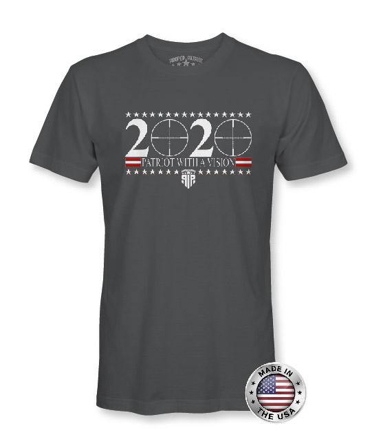 2020 Patriot With A Vision - USA Shirt - Patriotic Shirts for Men