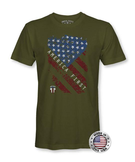 America First - USA Shirt - Patriotic Shirts for Men