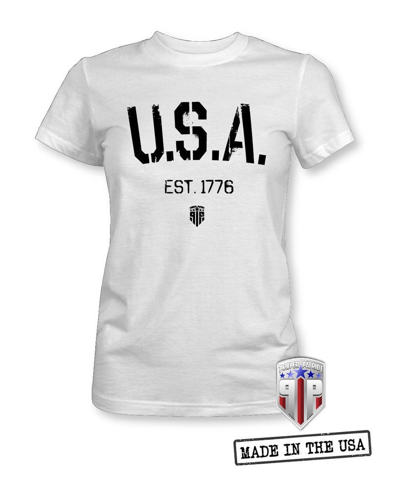 U.S.A. 1776 - USA Apparel Shirts - Women's Patriotic Shirts