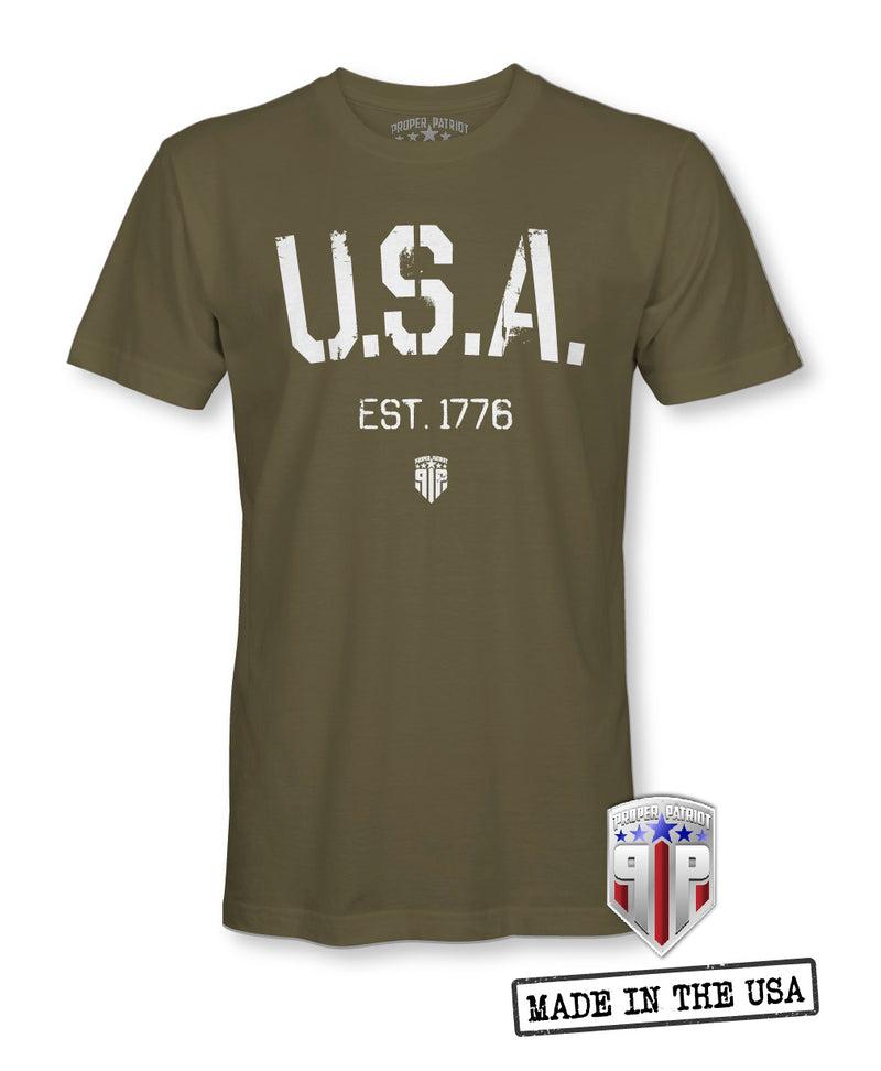 U.S.A. 1776 - America Shirts - Patriotic Shirts for Men