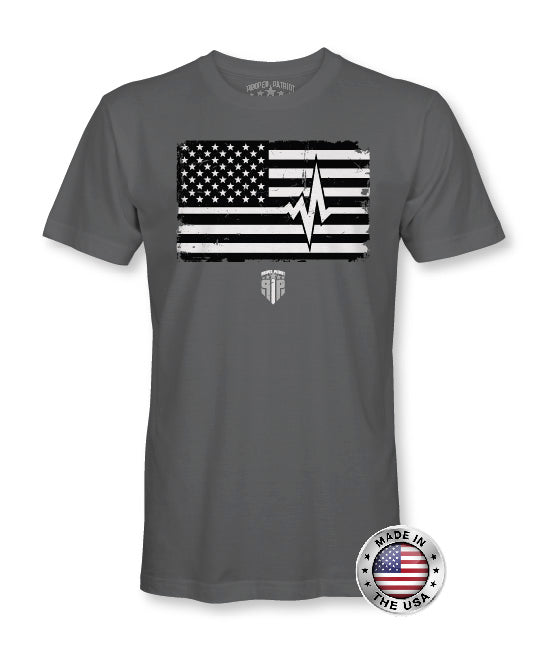White Line Support - EMS Support Shirts - Patriotic Shirts for Men