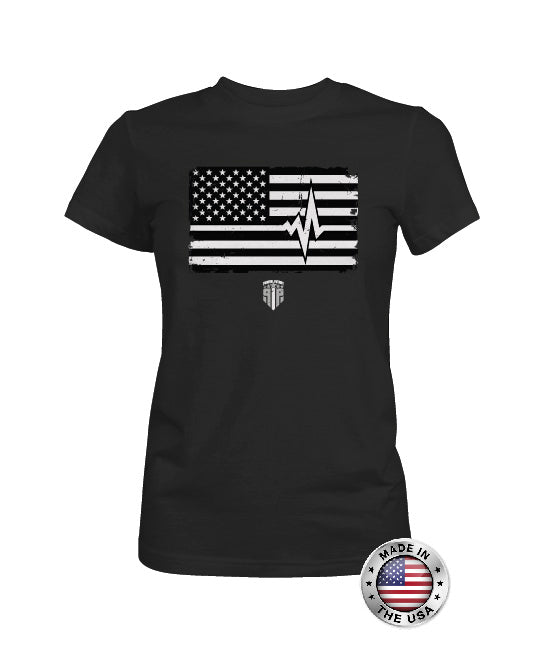 White Line Support - EMS Support Shirts - Women's Patriotic Shirts