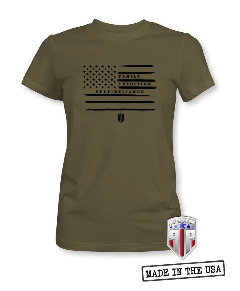 Values We Stand By - Flag Apparel Shirts - Women's Patriotic Shirts