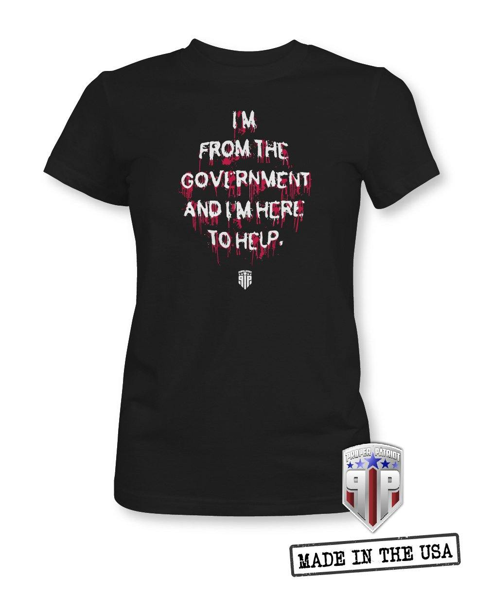 Nine Most Terrifying Words - I'm From the Government - Reagan Halloween Shirts - Women's Patriotic Shirts