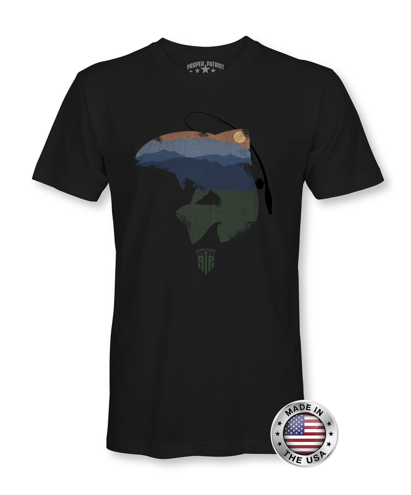 Trout Fishing Infused By Mountain Sunset - Men's Shirt - Proper Patriot