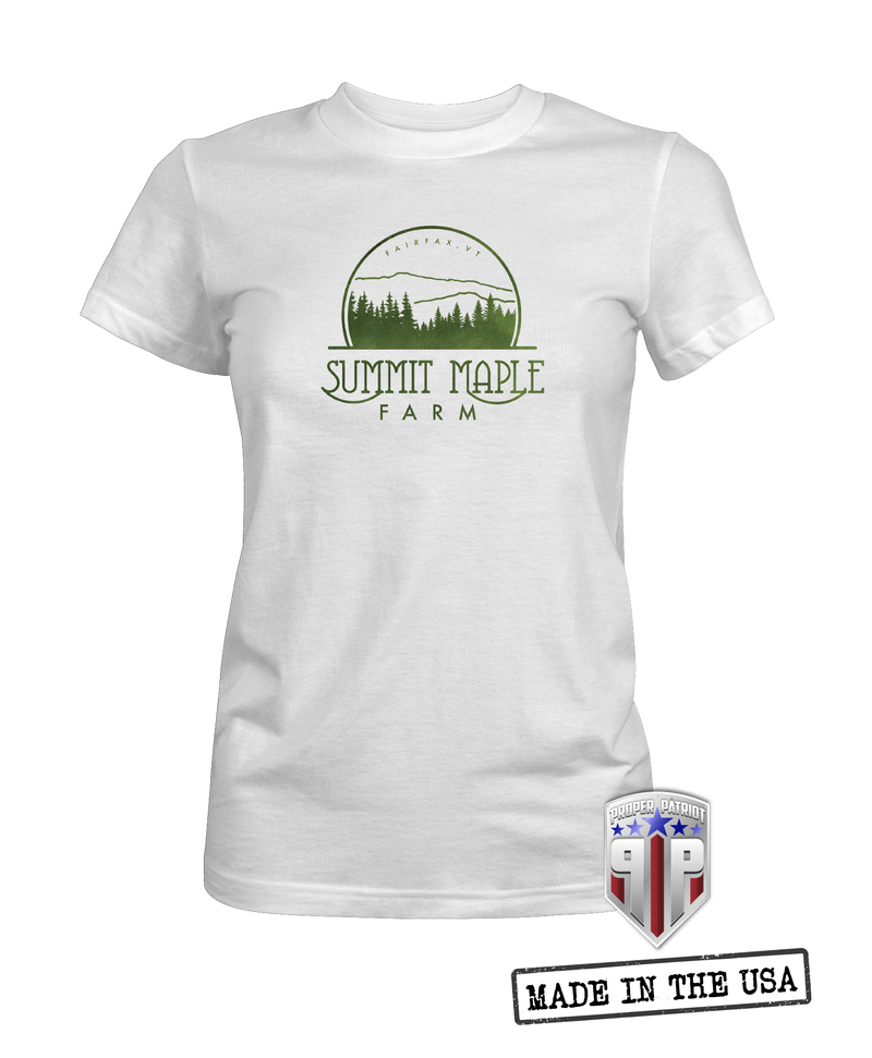 Green Logo - Summit Maple Farm - Women's Shirt