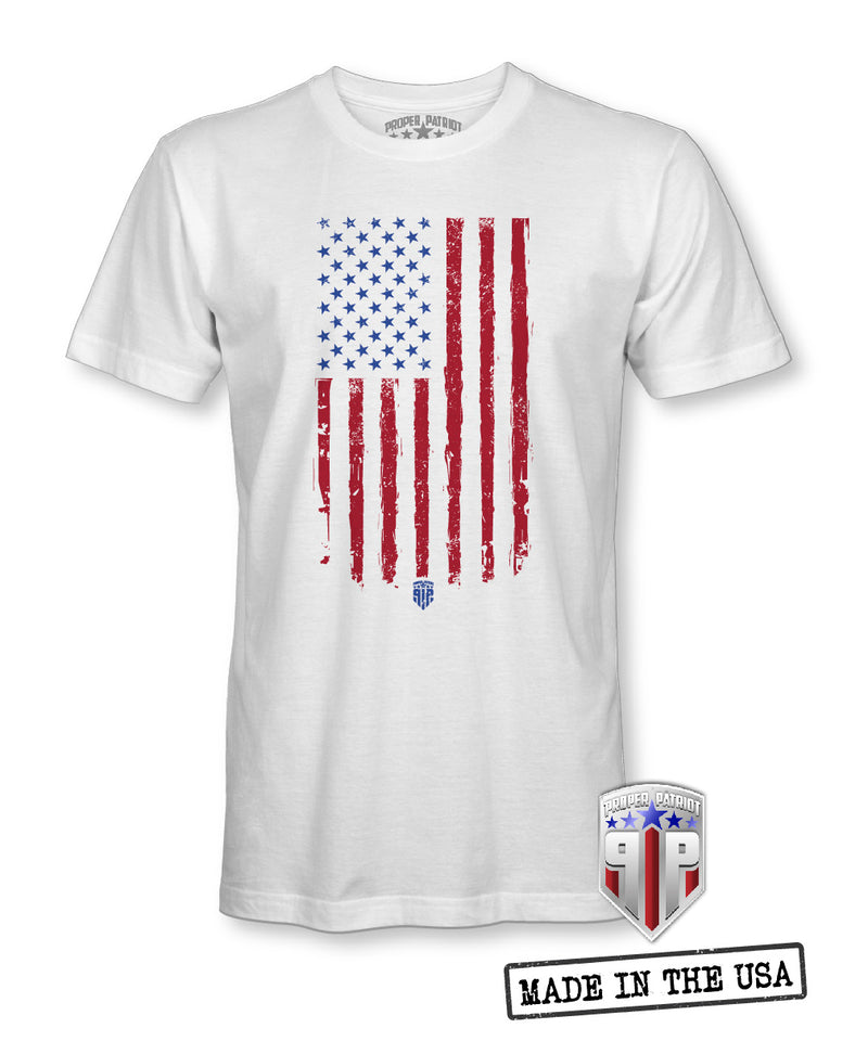 Tattered American Flag - USA Apparel - Patriotic Shirts for Men