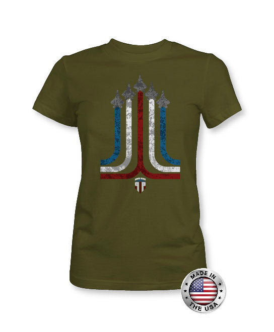 Jet Stream - USA Shirt - Red White and Blue - Women's Patriotic Shirts