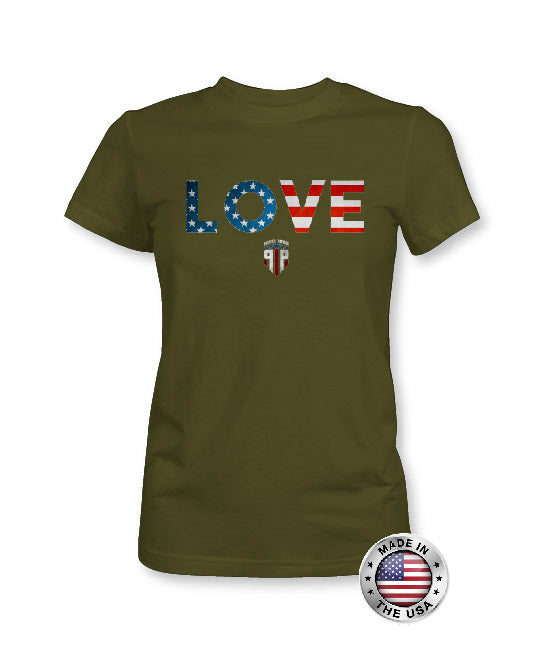 Love American Flag Shirt - USA Shirt - Women's Patriotic Shirts