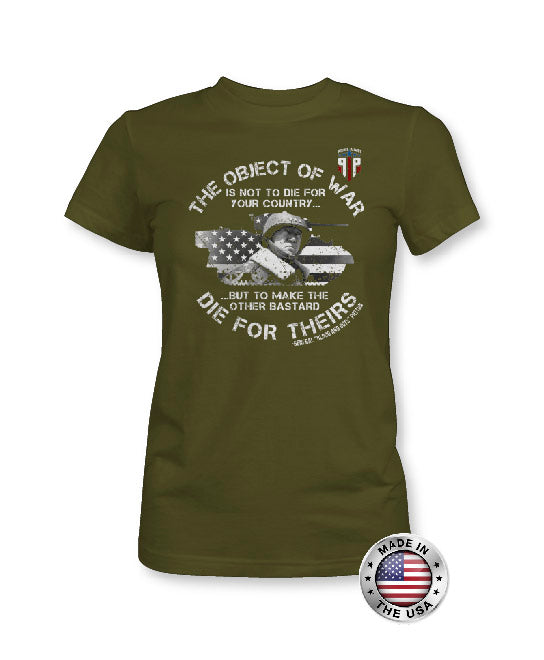 The Object Of War General Patton - American Flag Apparel - Women's Patriotic Shirts