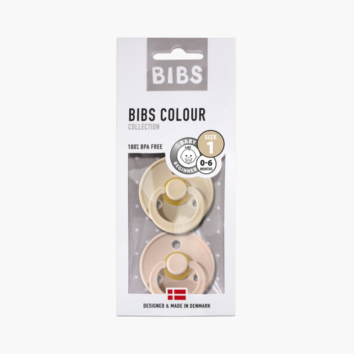 Pack of 2 Bibs Vanilla / Blush Pacifiers