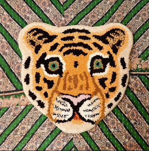 Tapis Tiger Head