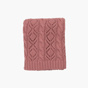 Couverture Tricot Rasberry