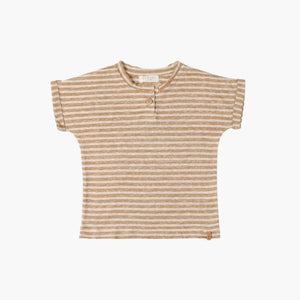 Stripe Dust Caramel T-Shirt