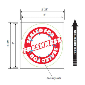 "Tamper Proof Labels, Round Secure Label Seal, 2"" Circle, 500 Labels/Roll, 4 Rolls/Box"