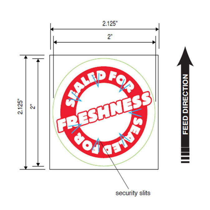 Tamper Proof Labels, Round Secure Label Seal, 2