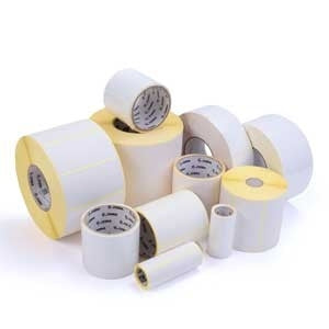 "Zebra 2.3"" x 1'' Label Permanent Adhesive Barcode Label 1,685 Labels/Roll"